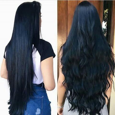 O estilo dos cabelos lisos e encaracolados